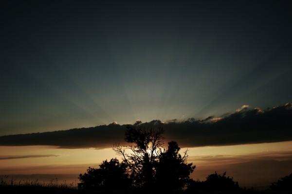 "Sunset in ""La serra del Obac"", San Llorenc. Spain"