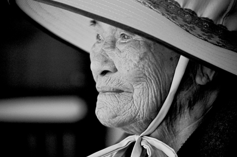 Old woman in South Taiwan