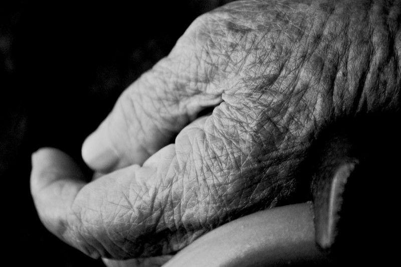 old lady hand