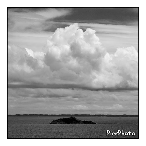 Rock and clouds