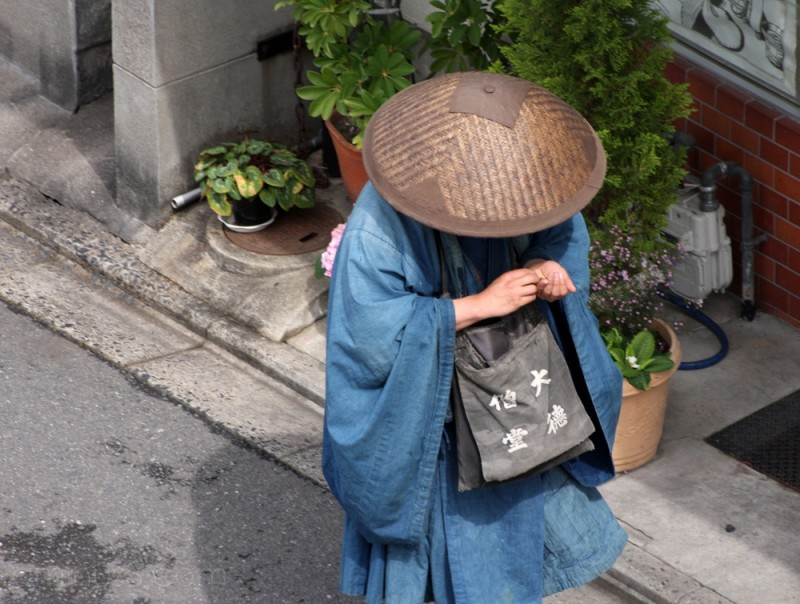 A monk in Kyoto