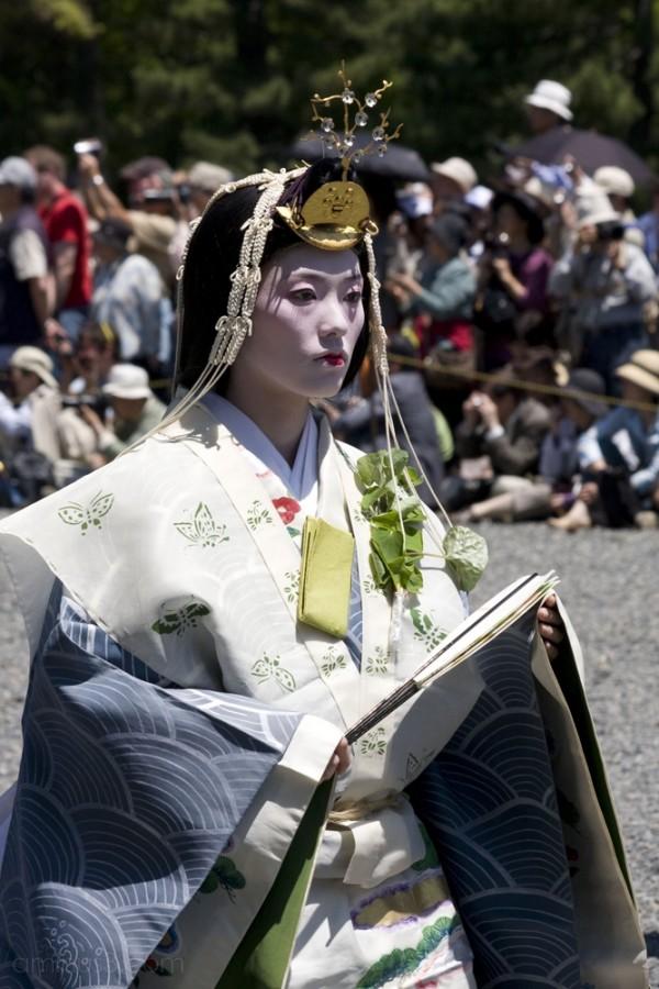 A woman in the Aoi Matsuri