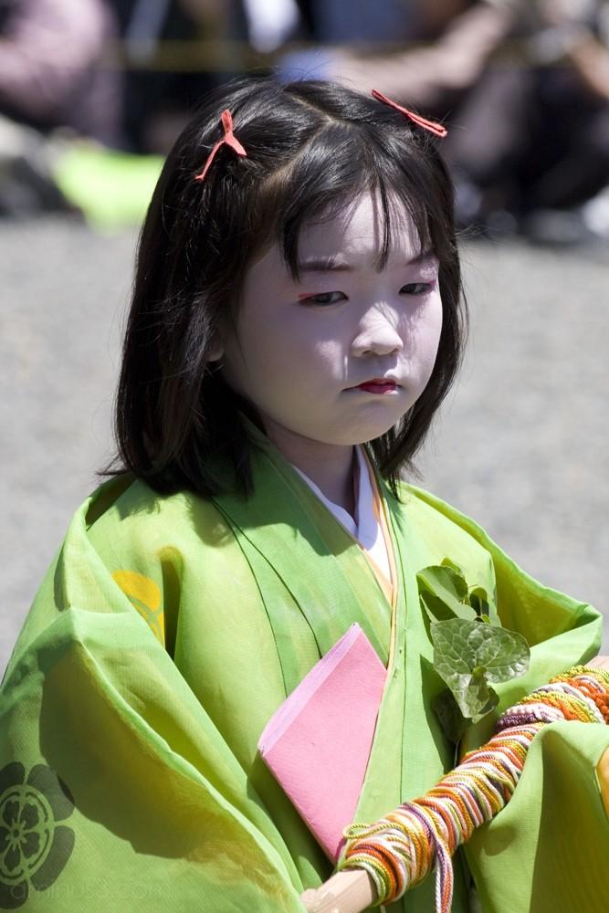 A child in the Aoi Matsuri