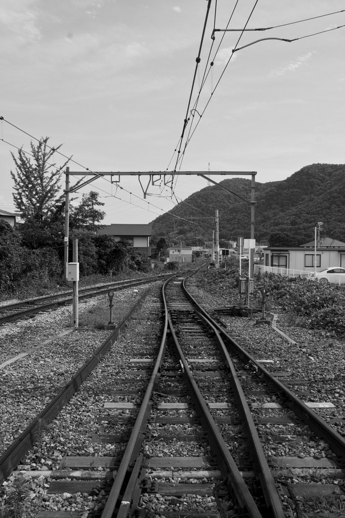 Train tracks in Nishiwaki