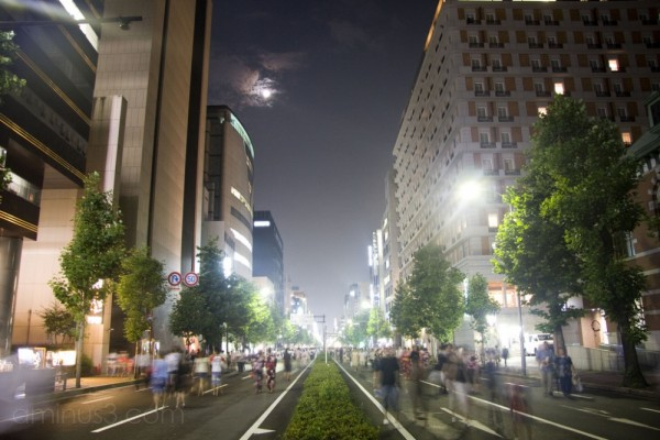 Karasuma Street during the festival