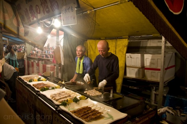 Grilled meat vendors