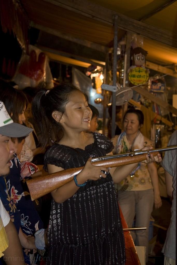 Girl with an air rifle