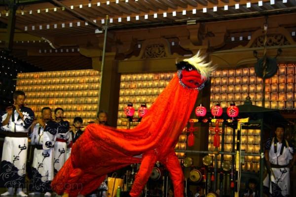Shishi-mai at the Rokusai Nenbutsu