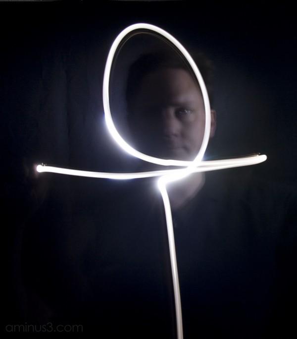 Self-portrait and light-writing