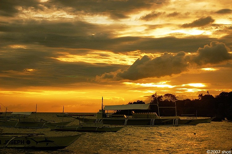 sunset at panglao island