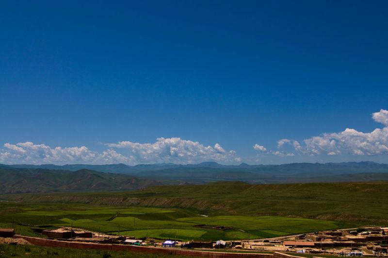 Pastoral landscape of Ganjia grasslands