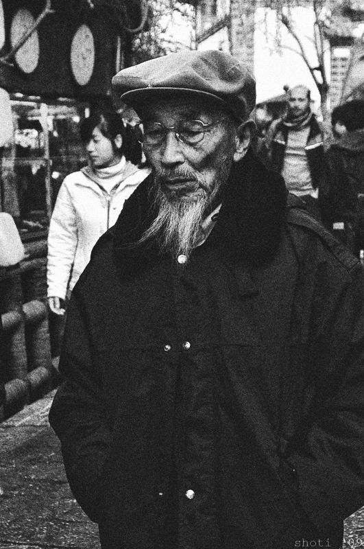 old man in old town