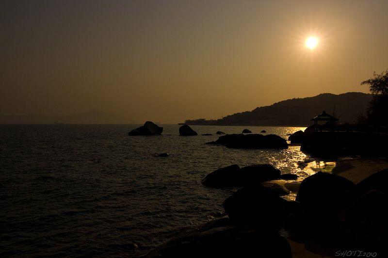 sundown at Xiamen