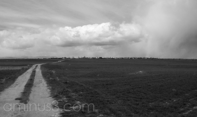 stormy fields in the Alcarria