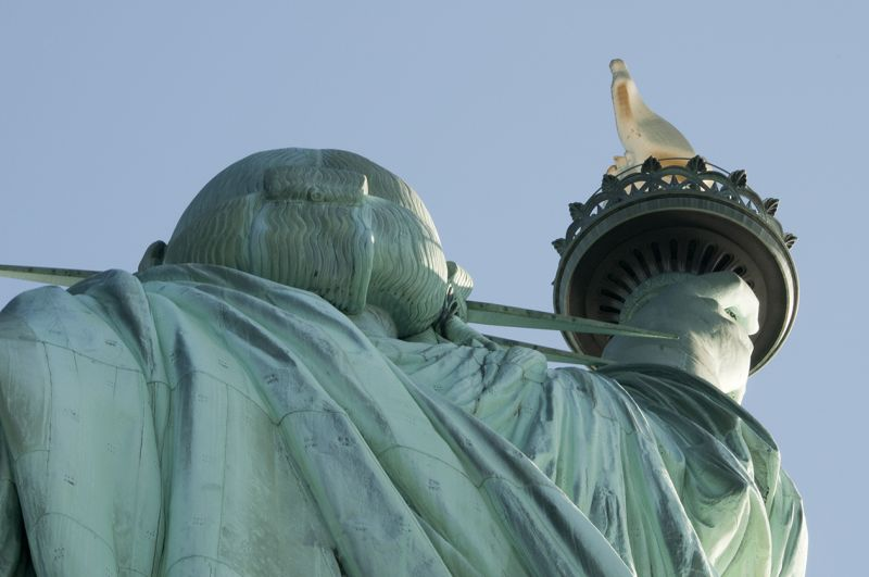 Miss Liberty's hair cut