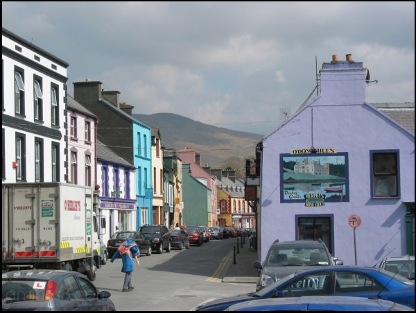 a cheerful street by Castletownbere harbour