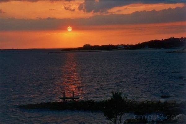 sunset view Nobska CapeCod