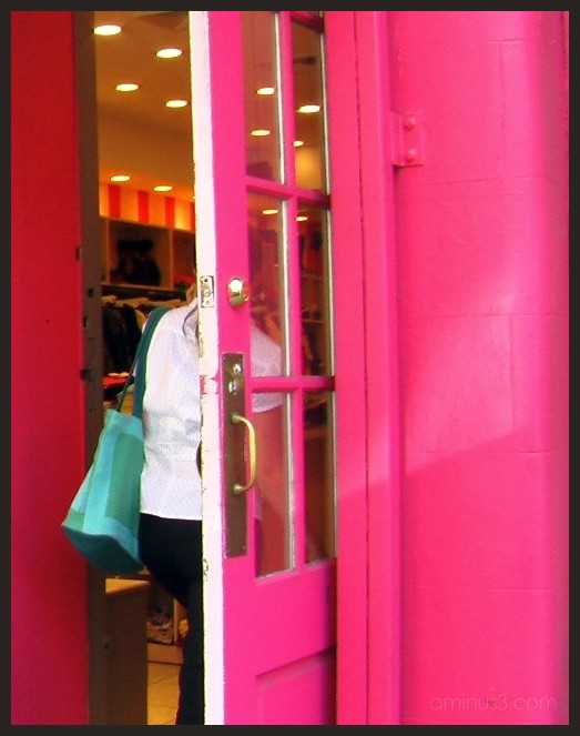 Pink Store-front in SoHo