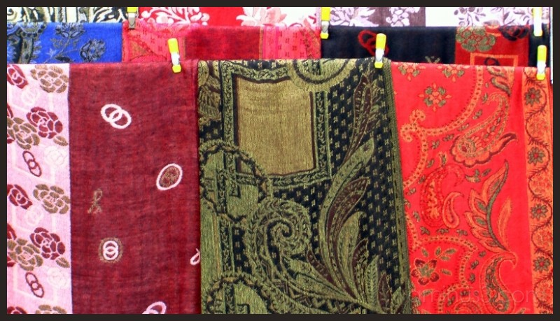 Indian Paisley shawls in NYC