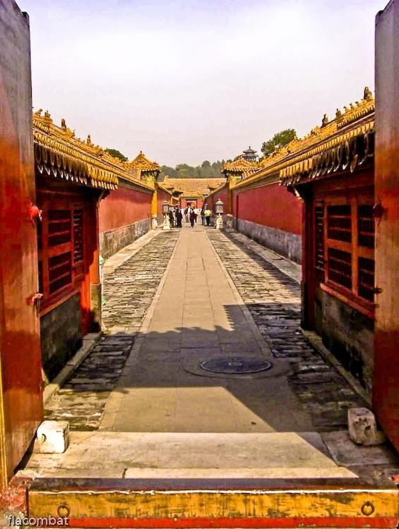 In the forbidden City of Beijing