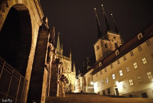 erfurt cathedrale nightshot germany