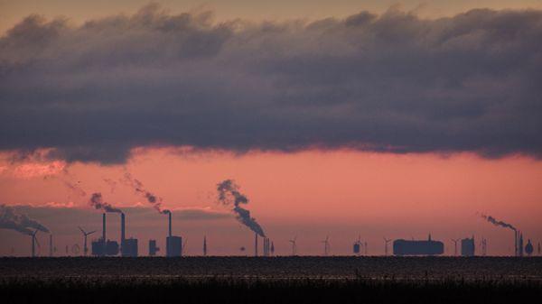 Sun setting over COP15