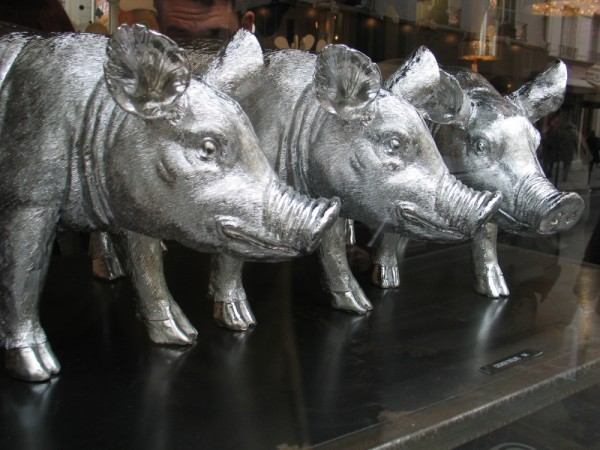 Les 3 petits cochons.....argentés