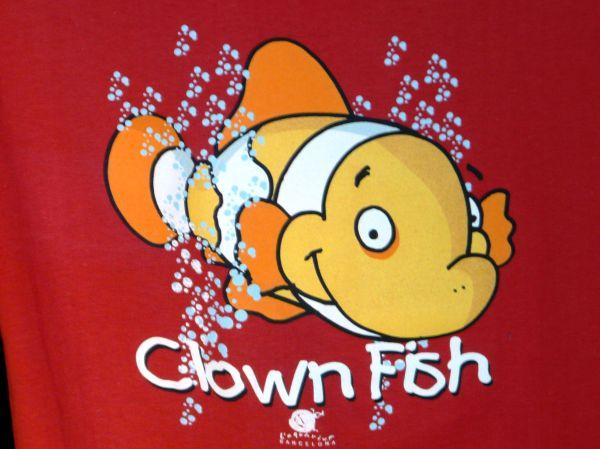 Poisson clown sur Tee-Shirt