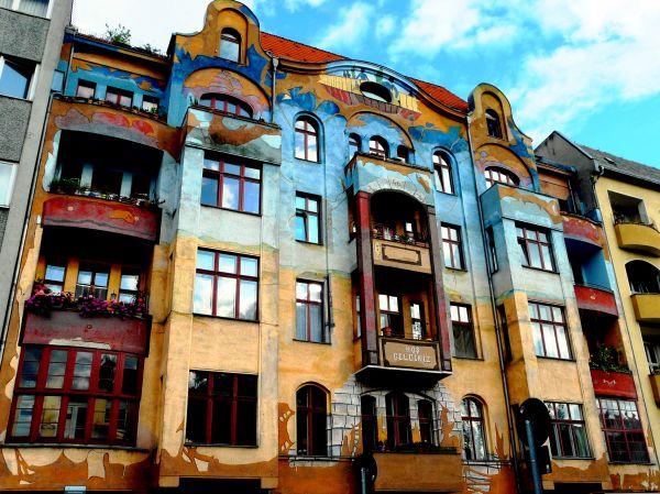 Immeuble coloré à Berlin