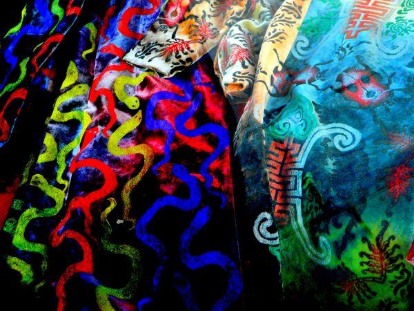 Velours colorés