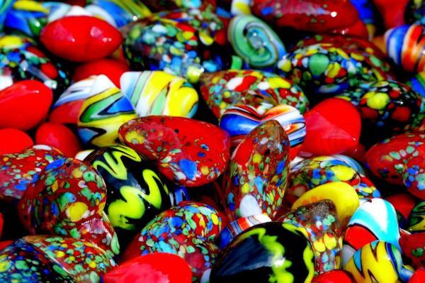 Coeurs colorés
