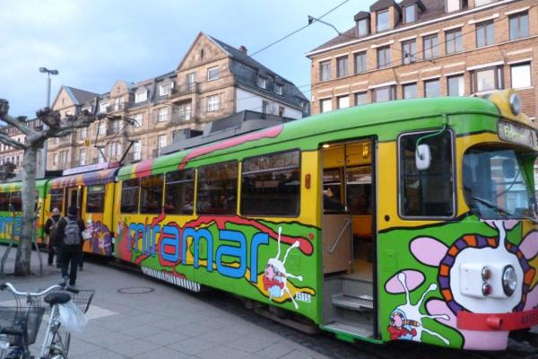 Tramway coloré
