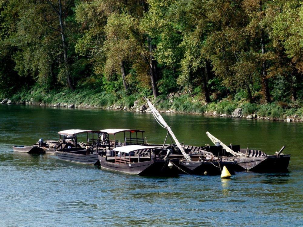 Chalands sur la Loire à Tours