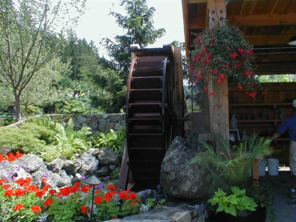 Mill Wheel Butchart Gardens, Victoria BC