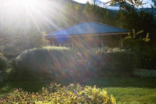 Sunbeams Over Jewell Gardens Gazebo, Skagway AK