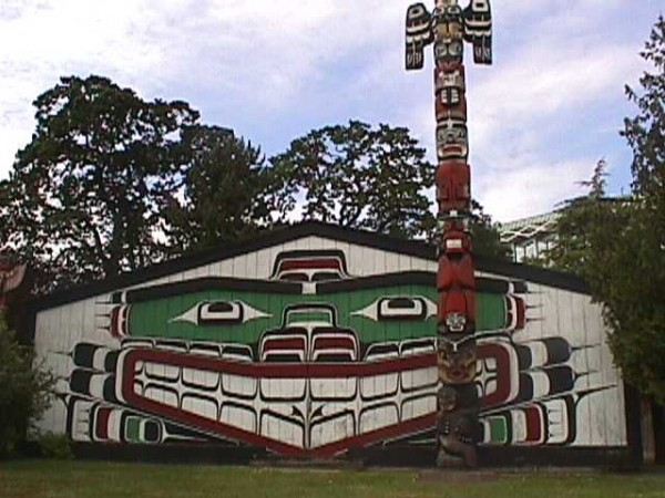 Clan House, Royal BC Museum, Victoria BC