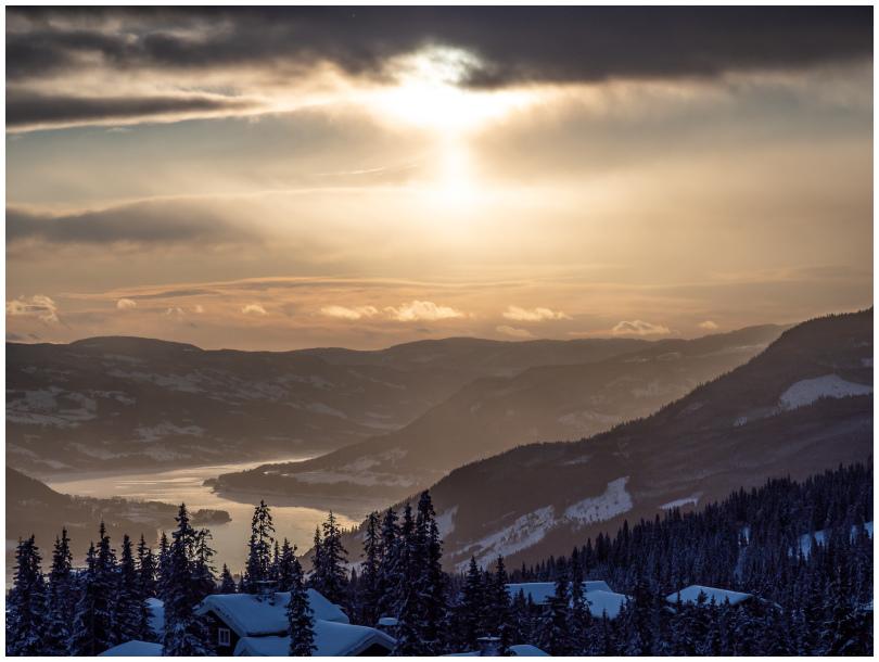 View from Kvitfjell, Norway