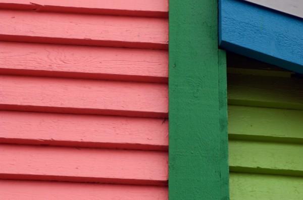 multicolored house