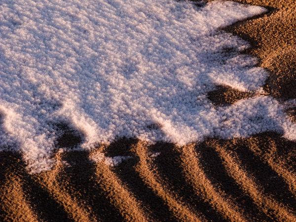 snow, beach