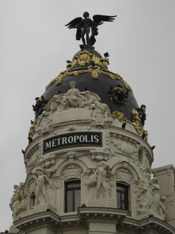 Metropolis building on Grand Via, Madrid