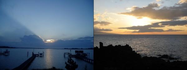 side by side, Sunrise, sunset
