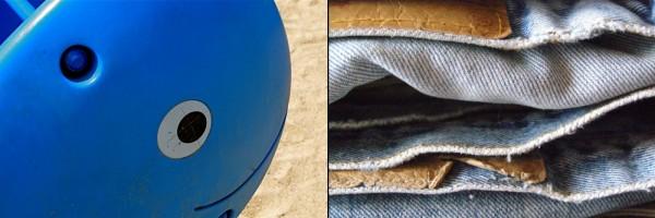 side by side, color, blue