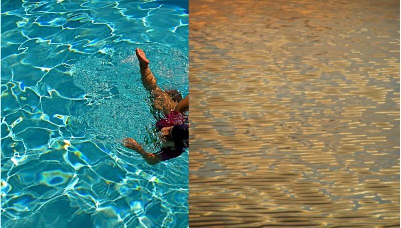 side by side, water
