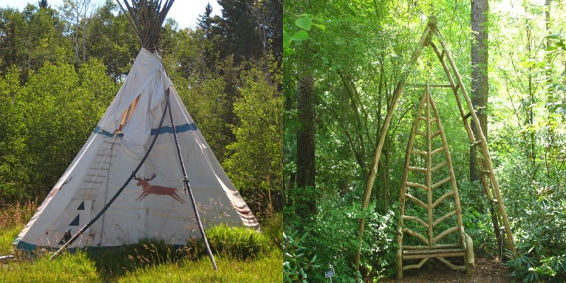 triangle, structure, tipi, bench