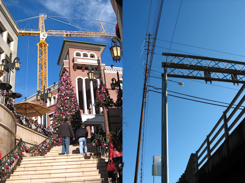 Above, Crane, Powerlines