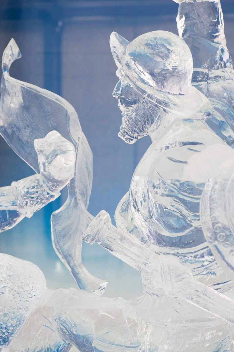 Ice sculpture, Fire in Ice