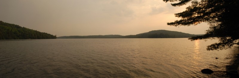 Panoramic from Jean Island Algonquin Park
