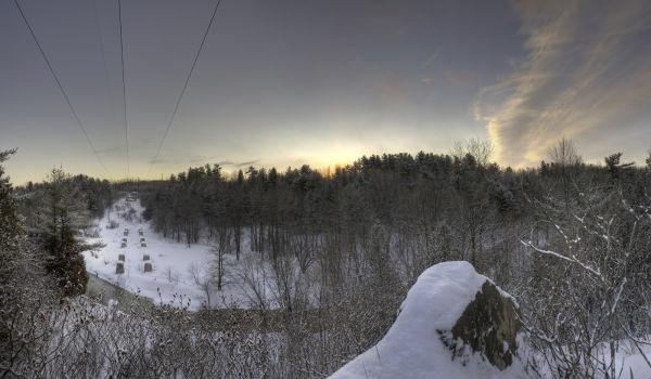 HDR panoramic of Sunrise at Green's Creek