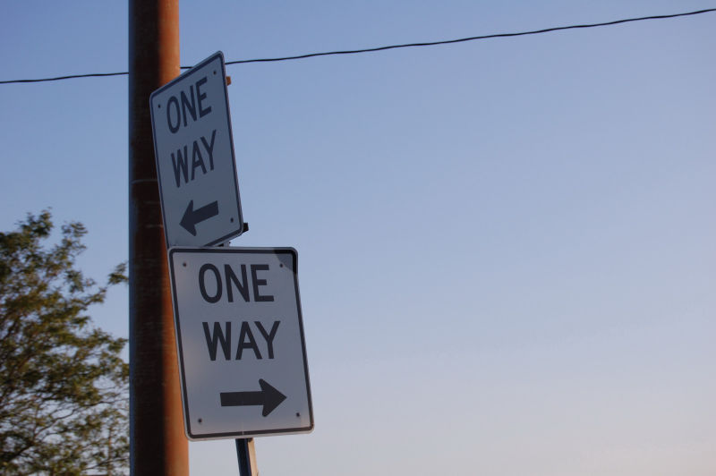 Going down the one way street