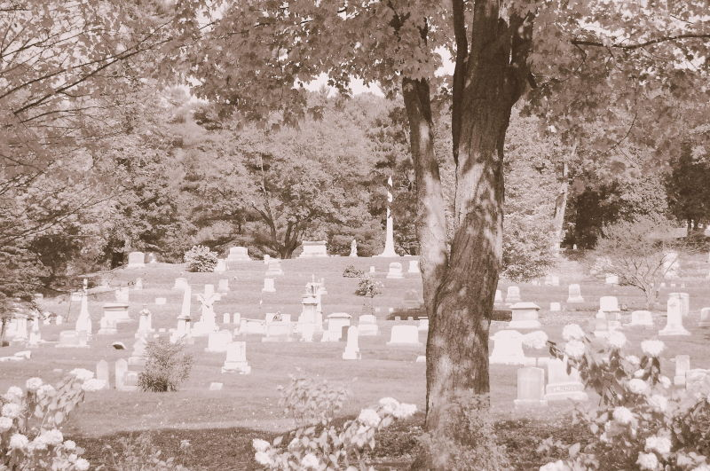 Cemetery by the fall